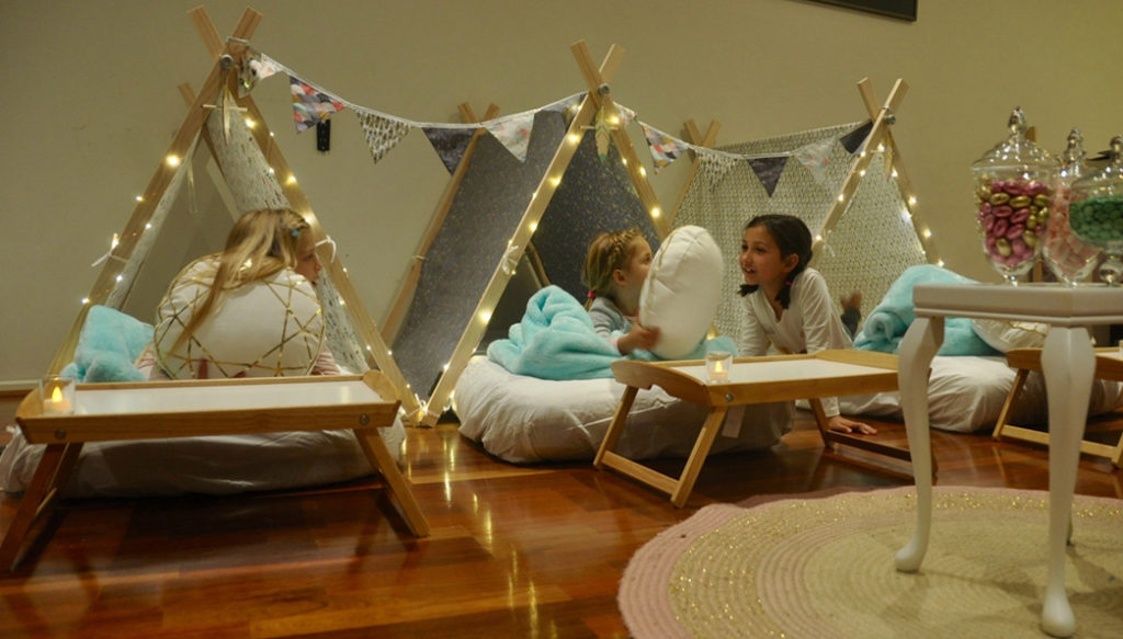 Boho Teepee Theme for kids sleepover