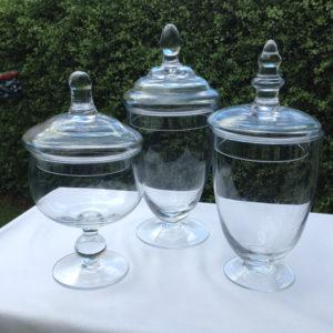 3 Small Jars