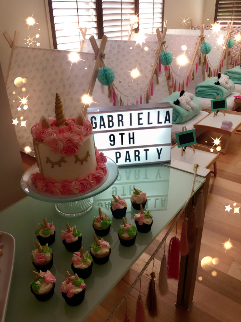 Gabriella had a Magical Unicorn party for her 9th birthday