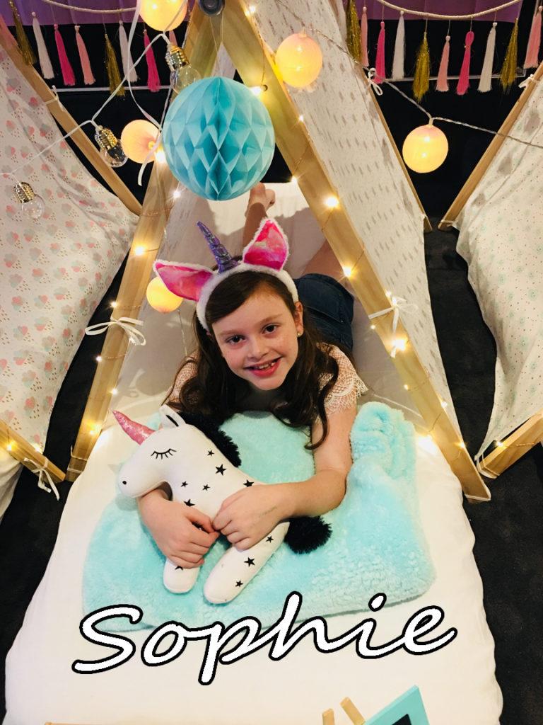 Sophie Unicorn Teepee Party