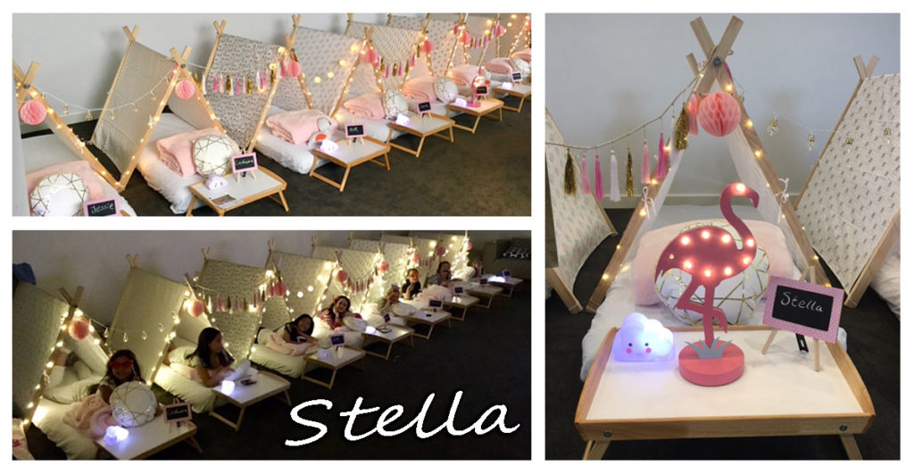 Stella Teepee Slumber Party Melbourne Montage for Gallery